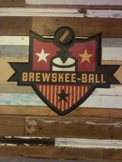 Brewskee-Ball emblem at the Full Circle Bar